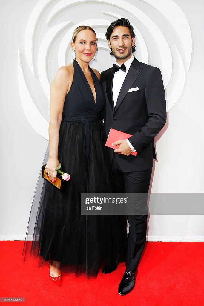 Natascha Ochsenknecht and Umut Kekilli attend the Rosenball 2016 on April 30, 2016 in Berlin, Germany.