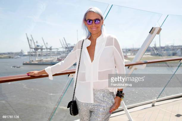 Natascha Ochsenknecht is seen during the naming ceremony of the cruise ship 'Mein Schiff 6' on June 1 2017 in Hamburg Germany