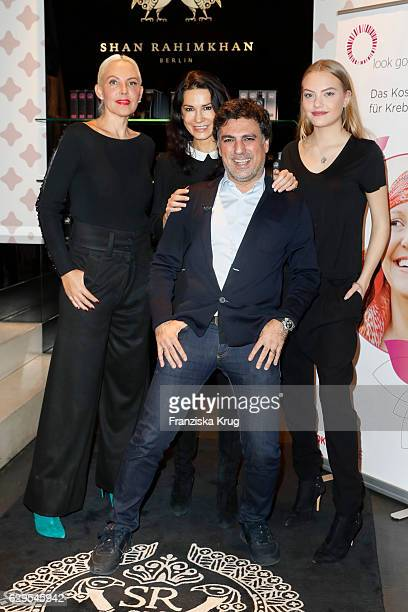 Natascha Ochsenknecht Mariella Ahrens Shan Rahimkhan and Cheyenne Savannah Ochsenknecht attend the Shan's Beauty Dinner on December 13 2016 in Berlin...