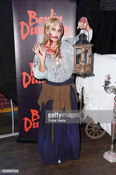 Natascha Ochsenknecht poses in disguise during a photo session at Berlin Dungeon on September 22 2016 in Berlin Germany On October 26 Natascha...