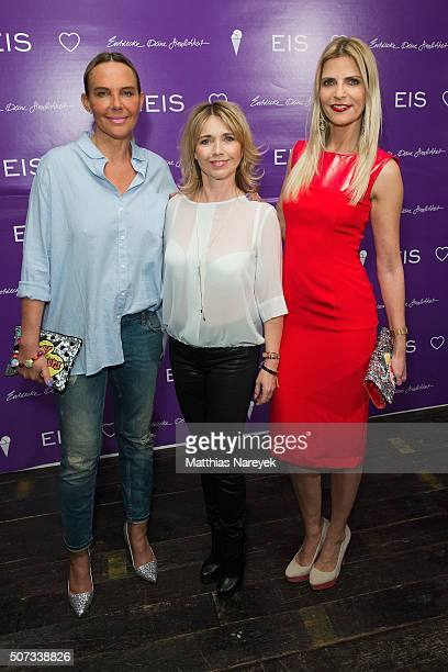 Natascha Ochsenknecht Tina Ruland and Tanja Buelter attend the EIS party at Soho house on January 28 2016 in Berlin Germany