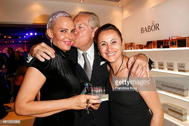 Natascha Ochsenknecht Werner Mang and Sybille Mang attend the Babor At Duftstars Awards 2014 at Arena Berlin on May 15 2014 in Berlin Germany
