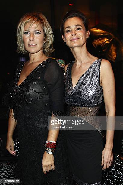 Natasha Amal and MarieSophie Lelouche attend the launch of Christophe Guillarme's luggage line at Hotel Renaissance on January 22 2012 in Paris France