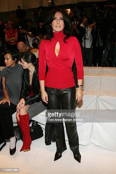 Natasha Amal during Paris Fashion Week Spring Summer 2007 JeanLouis Scherrer Front Row at Caroussel du Louvre in Paris France