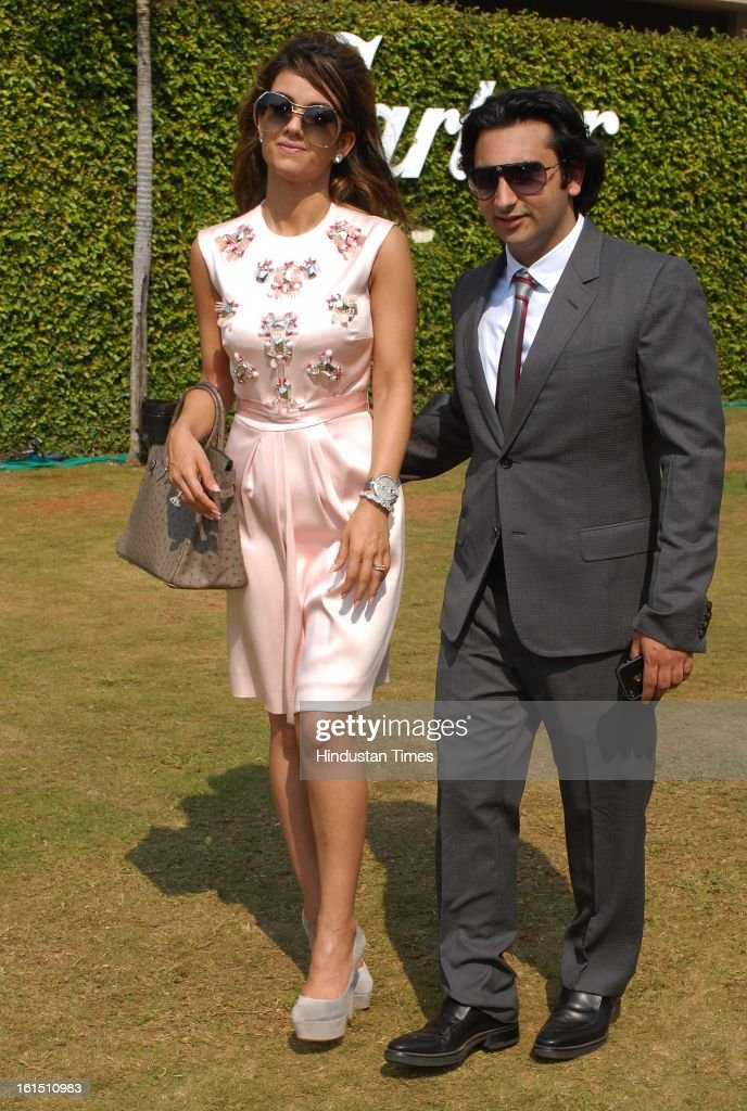 Natasha and Adar Poonawalla during Third Cartier Travel With Style Concours D'Elegance Vintage car show at 2013 Taj Lands End on February 10, 2013 in Mumbai, India.