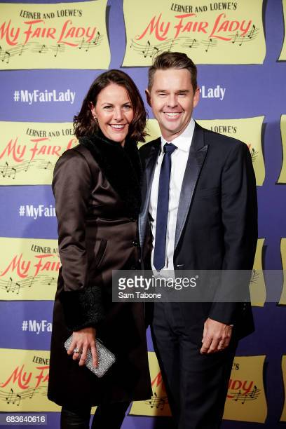 Natasha and Todd Woodbridge arrive ahead of opening night of My Fair Lady at Regent Theatre on May 16 2017 in Melbourne Australia