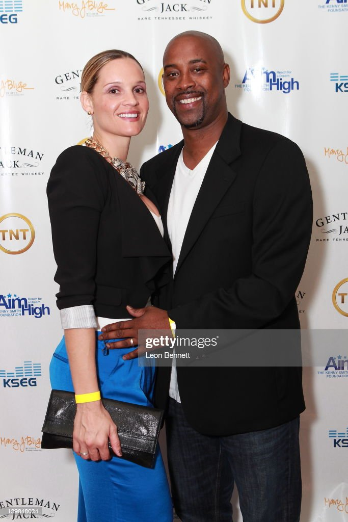 Natasha Anderson and Kenny Anderson attend 10th Annual Kenny The Jet Smith NBA All-Star Bash, hosted by Mary J. Blige on February 24, 2012 in Orlando, Florida.