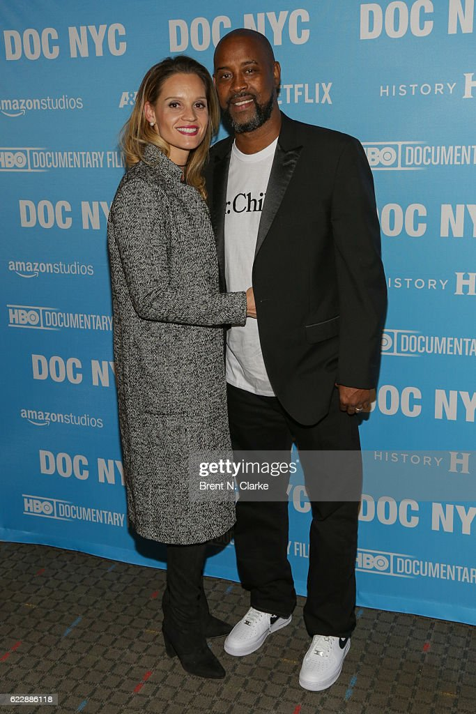Natasha Anderson (L) and retired basketball player Kenny Anderson attend the screening of 'Mr. Chibbs' during DOC NYC held at the SVA Theater on November 12, 2016 in New York City.
