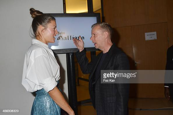 Natasha Andrews and Bill Gaytten attend the John Galliano show as part of the Paris Fashion Week Womenswear Spring/Summer 2015 John Galliano Runway...