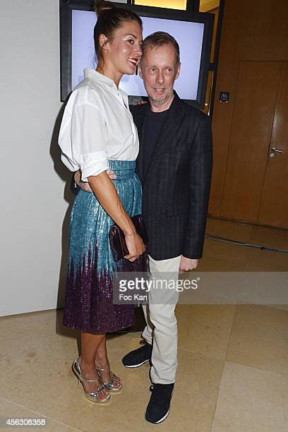 Natasha Andrews and Bill Gaytten attend the John Galliano show as part of the Paris Fashion Week Womenswear Spring/Summer 2015 John Galliano Runway...