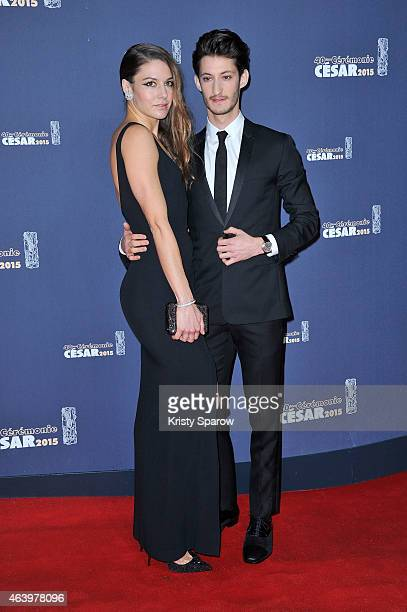 Natasha Andrews and Pierre Niney attend the 40th Cesar Film Awards at Theatre du Chatelet on February 20 2015 in Paris France