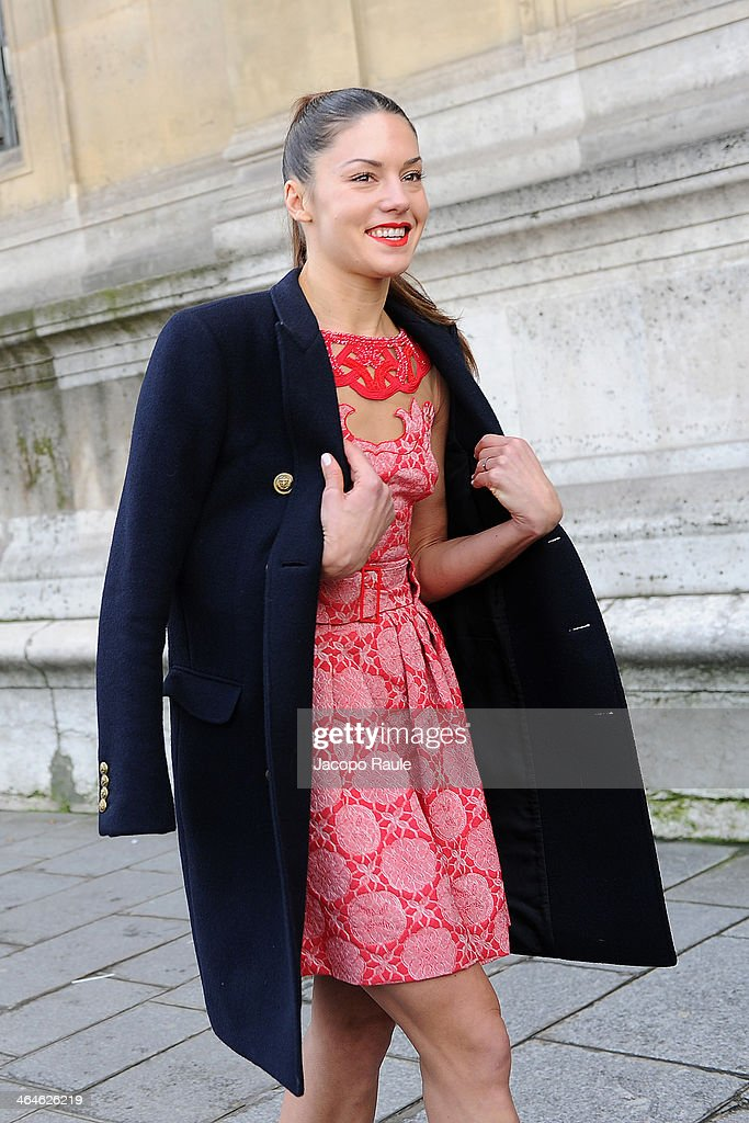 Natasha Andrews attends the Zuhair Murad show as part of Paris Fashion Week Haute Couture Spring/Summer 2014> on January 23, 2014 in Paris, France.