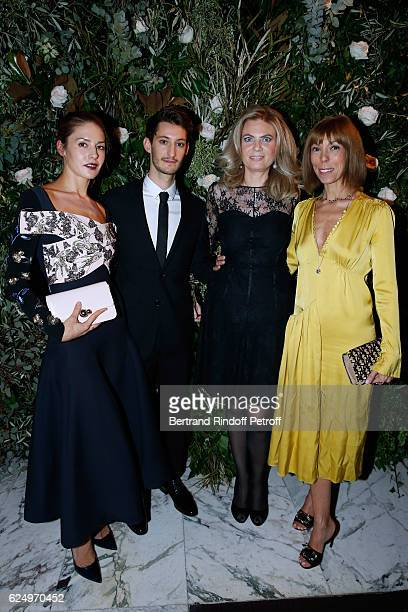 Natasha Andrews Pierre Niney President of Care France Arielle de Rothschild and Mathilde Favier attends the 'Diner des amis de Care' for the 70th...