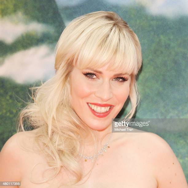 Natasha Bedingfield arrives at the Los Angeles Premiere of Disney's 'The Pirate Fairy' held at Walt Disney Studio Lot on March 22 2014 in Burbank...