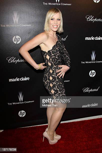 Natasha Bedingfield arrives at the Weinstein Company's 2012 Golden Globe afterparty held at Bar 210 at The Beverly Hilton hotel on January 15 2012 in...