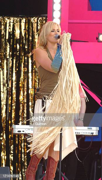 Natasha Bedingfield during T4 Pop Beach 2004 Concert at Great Yarmouth Beach in Great Yarmouth Great Britain