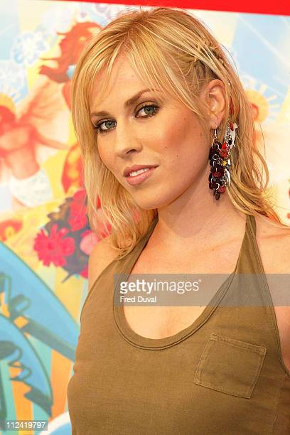 Natasha Bedingfield during T4 PopBeach Party Backstage in Great Yarmouth Great Britain