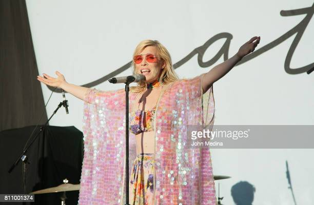 Natasha Bedingfield performs at Shoreline Amphitheatre on July 8 2017 in Mountain View California