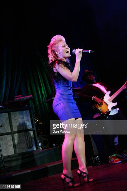 Natasha Bedingfield performs at the 4th Black Eyed Peas Peapod Foundation Benefit Concert at the Avalon on February 7 2008 in Hollywood California