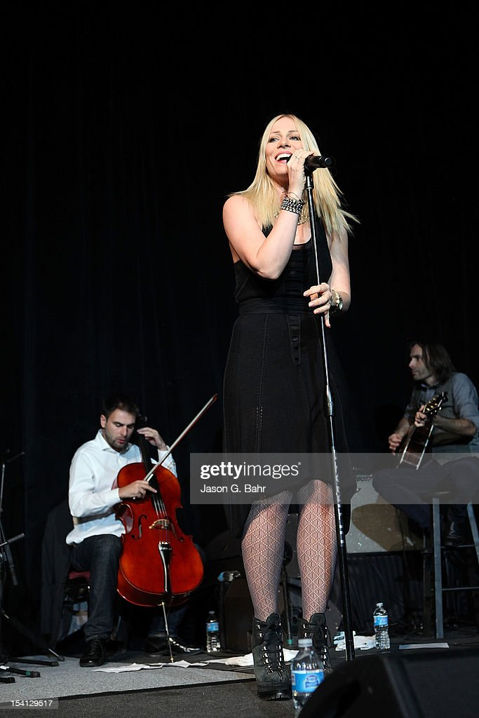 Natasha Bedingfield performs during the Be Beautiful Be Yourself Fashion Show at Sheraton Downtown Denver Hotel on October 13, 2012 in Denver, Colorado.