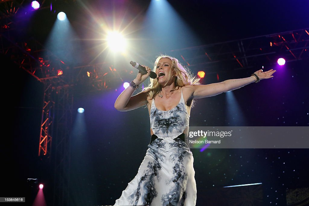 Natasha Bedingfield performs onstage at the One World Concert at Syracuse University on October 9 2012 in Syracuse New York