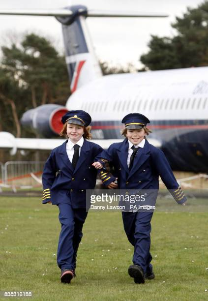 Natasha Bell and Kyle Barnes promote new state of the art interactive exhibits at the National Museum of flight in Scotland which went on show today
