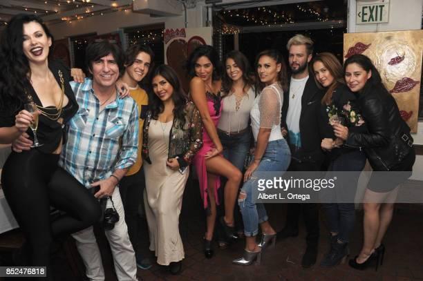 Natasha Blasick Martin Blasick Melinna Bobadilla Vanessa Garcia Angelica Rivera Jes Meza Ben Bratt Jaina Ortiz and guest attend the Vanessa E...