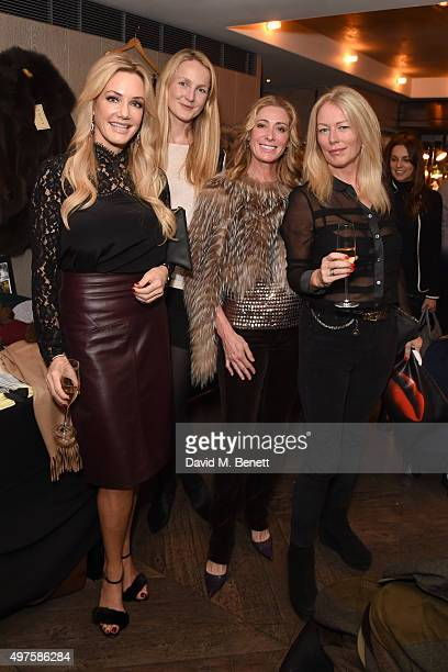 Natasha Bruun Rosie Ruck Keene and Giests attend the annual London Luxe Christmas Cocktail at Belgraves Hotel on November 17 2015 in London England
