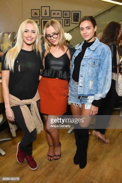 Natasha Bure and guests attend Natasha Bure 'Let's Be Real' Los Angeles book launch party at Eden By Eden Sassoon on March 24 2017 in Los Angeles...