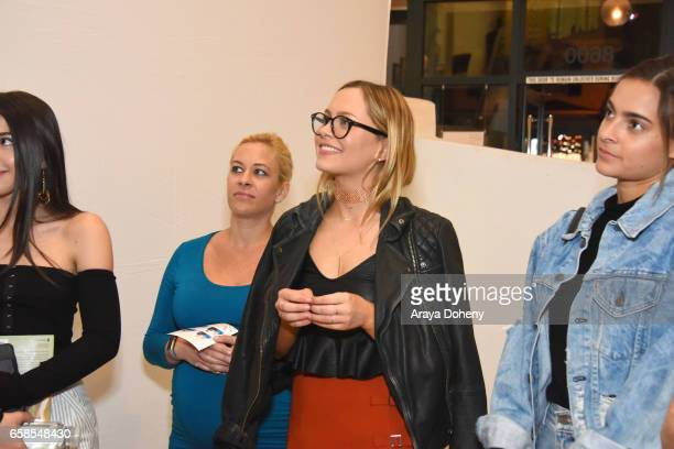 Natasha Bure and guests attend the Natasha Bure 'Let's Be Real' Los Angeles book launch party at Eden By Eden Sassoon on March 24 2017 in Los Angeles...
