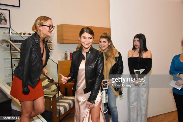 Natasha Bure and Olivia Jade attend Natasha Bure 'Let's Be Real' Los Angeles book launch party at Eden By Eden Sassoon on March 24 2017 in Los...