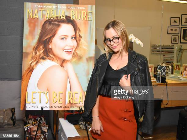 Natasha Bure attends the Natasha Bure 'Let's Be Real' Los Angeles book launch party at Eden By Eden Sassoon on March 24 2017 in Los Angeles California
