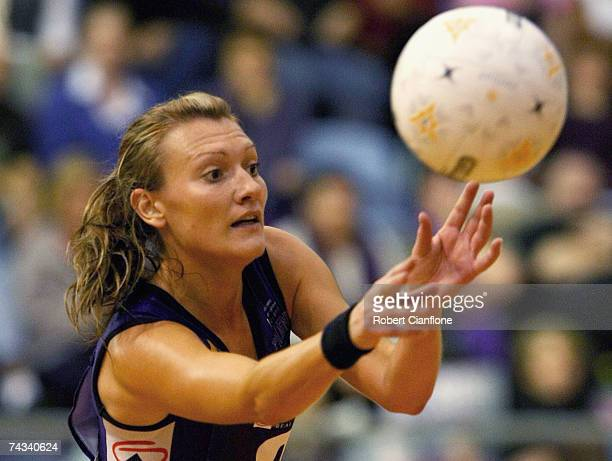 Natasha Chokljat of the Phoenix in action during the week five Commonwealth Bank Trophy match between the Melbourne Phoenix and the Sydney Swifts at...