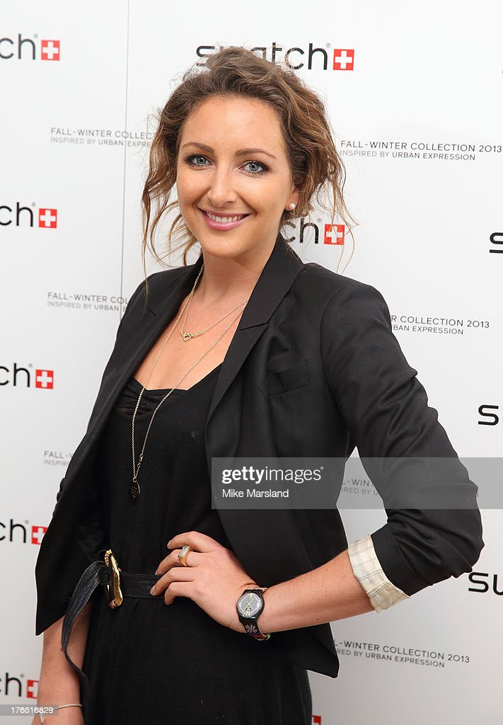 <a gi-track='captionPersonalityLinkClicked' href=/galleries/search?phrase=Natasha+Corrett&family=editorial&specificpeople=818033 ng-click='$event.stopPropagation()'>Natasha Corrett</a> attends the launch of Urban Expression by Swatch at Blackall Studios on August 14, 2013 in London, England.