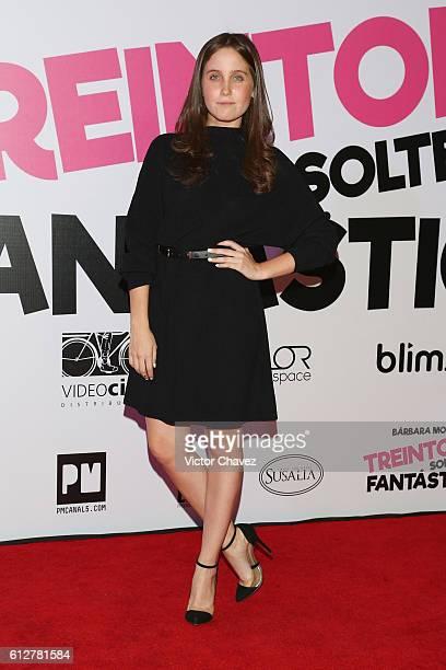 Natasha Dupeyron attends the 'Treintona Soltera Y Fantastica' Mexico City premiere at Cinemex Antara Polanco on October 4 2016 in Mexico City Mexico