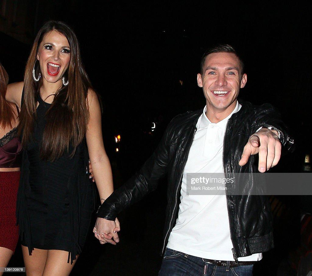 Natasha Giggs and Kirk Norcross at Anaya night club on February 16, 2012 in London, England.