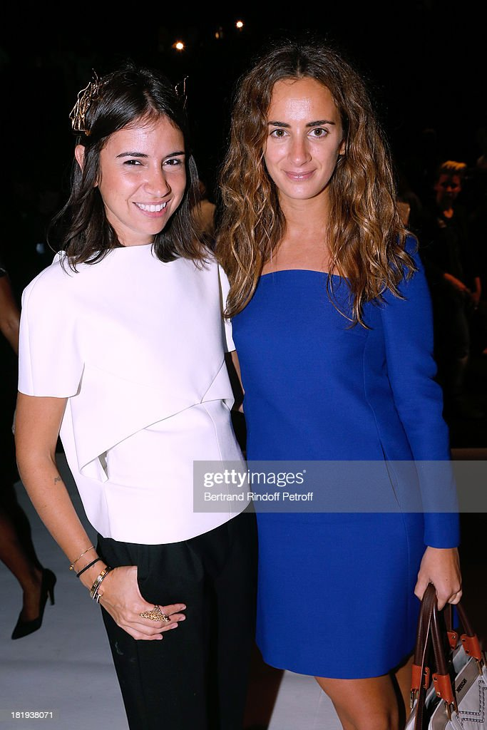 Natasha Goldenberg and <a gi-track='captionPersonalityLinkClicked' href=/galleries/search?phrase=Alexia+Niedzielski&family=editorial&specificpeople=4865022 ng-click='$event.stopPropagation()'>Alexia Niedzielski</a> attend Nina Ricci show as part of the Paris Fashion Week Womenswear Spring/Summer 2014, held at Garden of Tuilleries on September 26, 2013 in Paris, France.