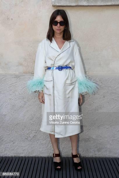 Natasha Goldenberg attends a 'Private view of 'TV 70 Francesco Vezzoli Guarda La Rai' at Fondazione Prada on May 7 2017 in Milan Italy