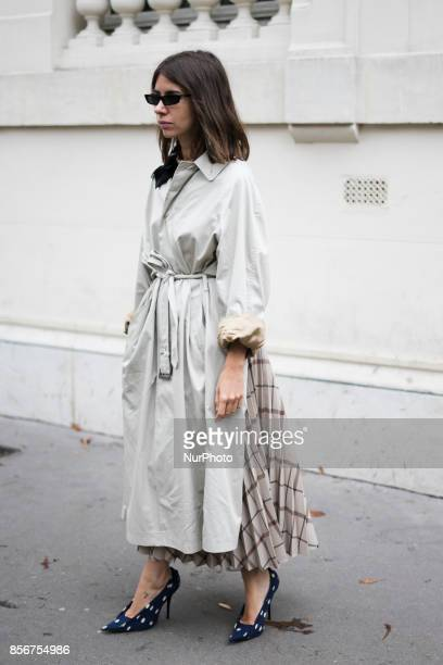 Natasha Goldenberg seen in the streets of Paris during the Paris Fashion Week on October 1 2017 in Paris France