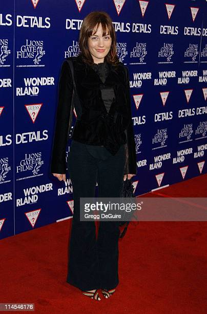 Natasha Gregson Wagner during 'Wonderland' Premiere hosted by DETAILS GUESS Arrivals at Grauman's Chinese Theatre in Hollywood California United...