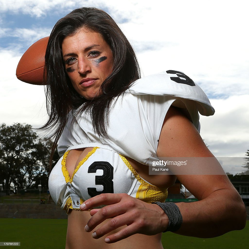 Natasha Haines of the Western Australian Angels poses during a Legends Football League (LFL) media day at nib Stadium on June 18, 2013 in Perth, Australia.