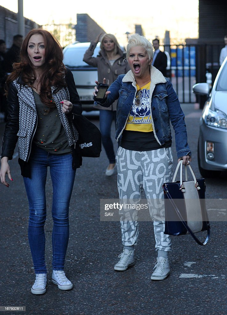Natasha Hamilton and Kerry Katona of Atomic Kitten pictured at the ITV studios on May 2, 2013 in London, England.
