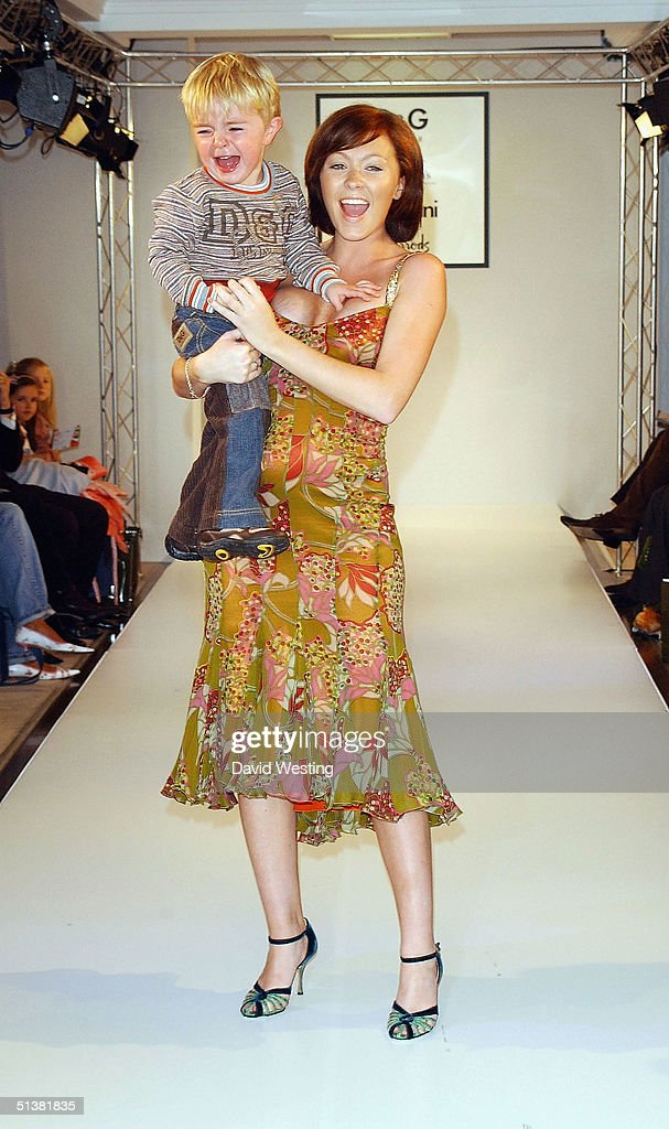 natasha hamilton and one of her children attend the dg aw04 childrens picture id51381835 d&g fashion show & photocall photos and images getty images,Childrens Clothes Knightsbridge