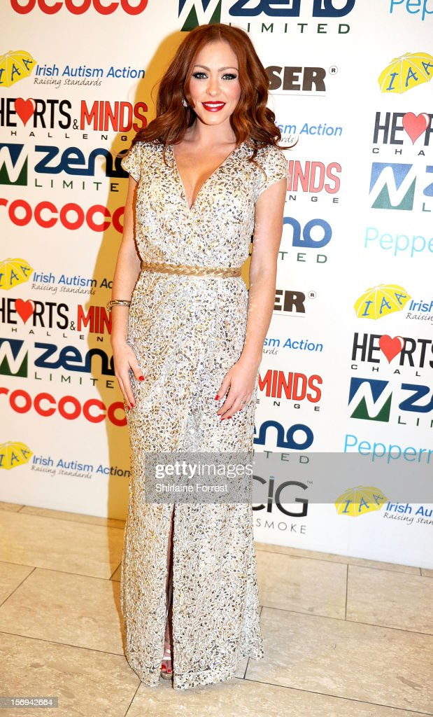 Natasha Hamilton attends the Hearts and Minds charity ball at Hilton Hotel on November 25, 2012 in Manchester, England.