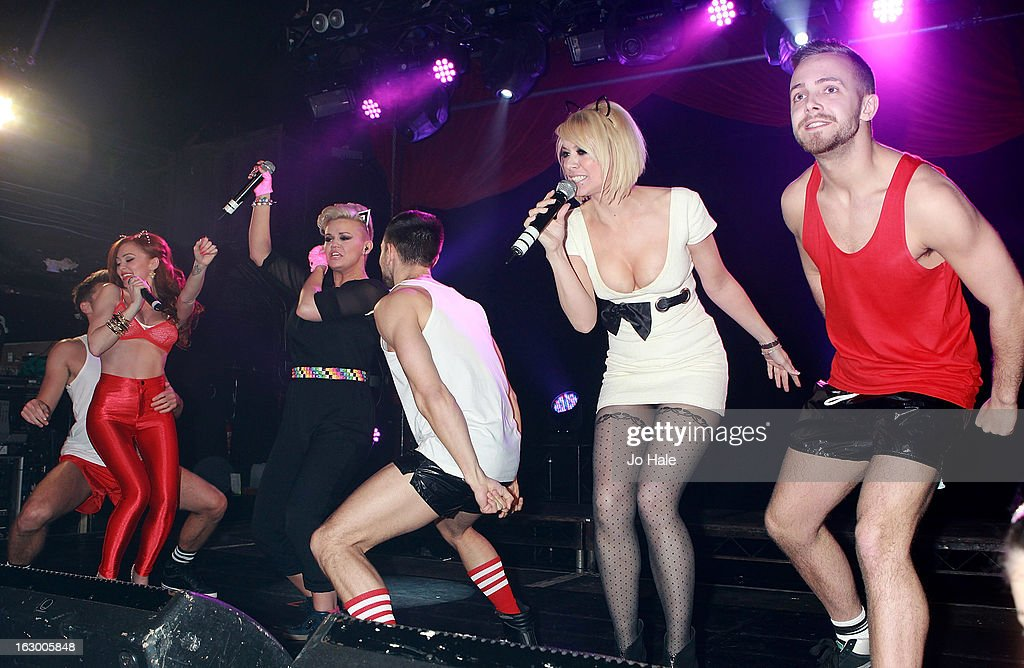 Natasha Hamilton, Kerry Katona and Liz McClarnon of Atomic Kitten perform on stage at G-A-Y on March 2, 2013 in London, England.