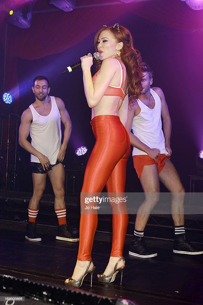 Natasha Hamilton of Atomic Kitten performs on stage at G-A-Y on March 2, 2013 in London, England.