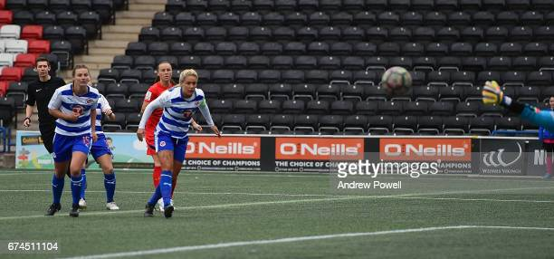 Natasha Harding of Liverpool Ladies scores the opening goal during a Women's Super League match between Liverpool Ladies and Reading FC Women at...