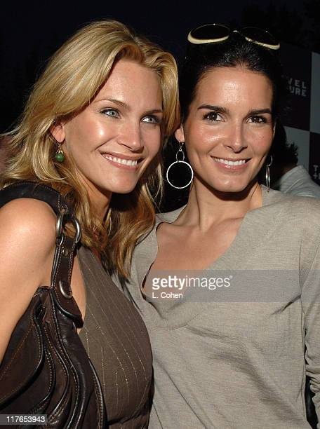 Natasha Henstridge and Angie Harmon during Travel Leisure Magazine Celebrates 35th Birthday Red Carpet at W Hotel in Los Angeles California United...