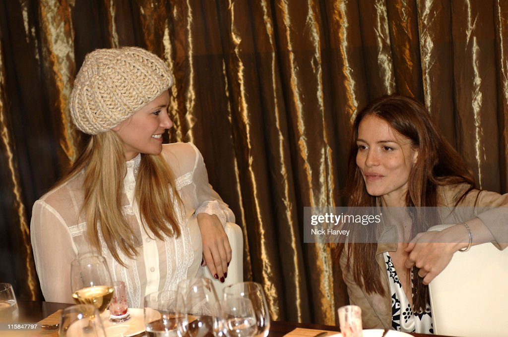 Natasha Henstridge and Saffron Burrows during Loewe Lunch at The Hospital at The Hospital in London, Great Britain.