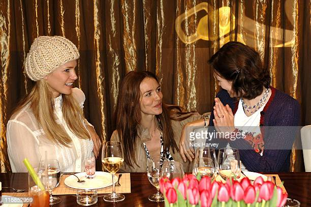 Natasha Henstridge and Saffron Burrows during Loewe Lunch at The Hospital at The Hospital in London Great Britain